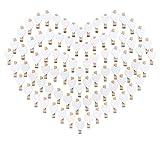 100 Herz Wäscheklammer Holz mini klein