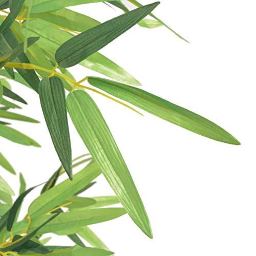vidaXL Künstliche Bambuspflanze mit Topf Kunstpflanze Kunstbaum 120 cm Grün