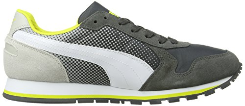 Puma ST Runner Shades Unisex-Erwachsene Sneakers Grau (dark shadow-white-gray violet 01)