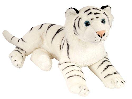 Wild Republic 12766 CK Laying Peluche Tigre Distesa, Bianco, 40 cm