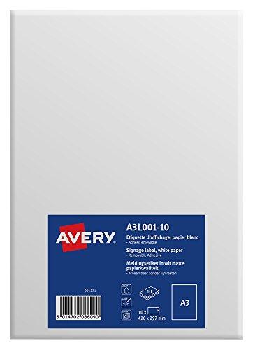 Avery España A3L001-10 - Etiquetas