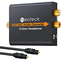 Convertidor de Audio Digital a Analágico Coaxial Óptico Toslink Señal a Adaptador de Audio Analágico RCA con Salida de Jack de 3,5 mm para HDTV Blu Ray DVD Sky HD XBox 360 PS3 Amazon Fire TV Box