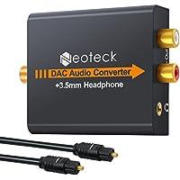Neoteck DAC Convertisseur Numérique vers Analogique Convertisseur Audio Coaxial Toslink Signal Optique vers Analogique RCA Adaptateur Audio L / R avec Sortie 3.5mm pour HDTV Blu Ray DVD HD XBox 360 PS3