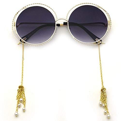 fuqiuwei Sonnenbrillen Einfache Sonnenbrille Weiblichen Runden Rahmen Rundes Gesicht Persönlichkeit Damen Sonnenbrille Gesicht Kleine Brille