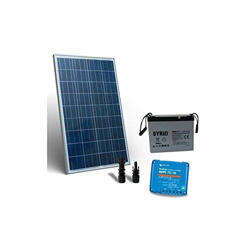 PuntoEnergia Italia - Kit Solare 100W 12V Pro2 Pannello Fotovoltaico Regolatore 10A MPPT Batteria 60Ah - KSP2-100