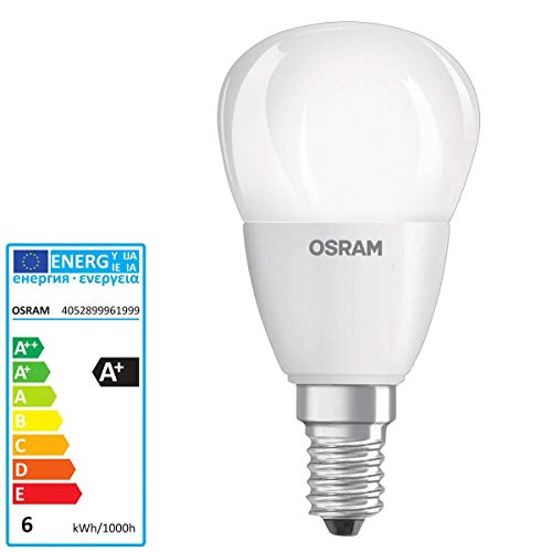 Osram Parathom DIM Classic P 40 DIMMABLE 2700K E14. Dimmbare Led Lampe 220-240v 6w 2700k e14. 470 Lumen. Entspricht 40w. 25.000 Stunden. 80 x 45mm