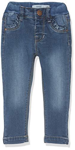 NAME IT Baby-Mädchen Jeans NMFPOLLY DNMTRILLA 2155 Pant NOOS, Blau (Medium Blue Denim), (Herstellergröße:80) (Mädchen Baby Jeans)