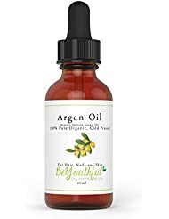 Pure Argan Oil 100ml - 100% Cold Pressed Organic Moroccan Oil For Face, Hair, Skin, Nails - Natural Treatment For Age Defying Skin, Lustrous Hair And Healthy Nails. Premium Quality