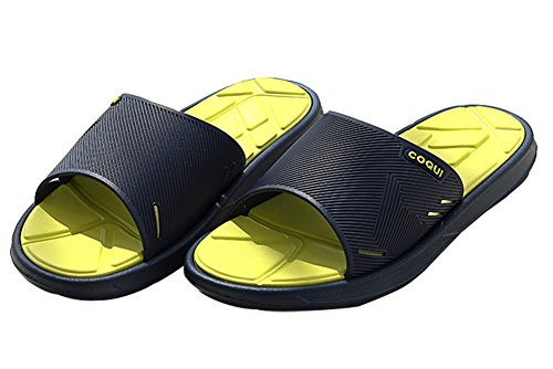 Slip On Pantofole Doccia Antiscivolo Sandali House Mule Mesh Uppers Scarpe piscina bagno Slide per adulti, Blue, 7.5 UK