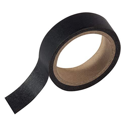 SIGEL MU220 Masking Tape für Meet up und Artverum Boards, Markierungsband für Whiteboards, selbstklebend, Papier, schwarz, 1 Rolle 16 m (Canvas-tape)