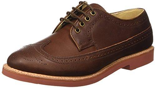 WALKOVER Derby Vibram, Chaussures à Lacets Homme Marron