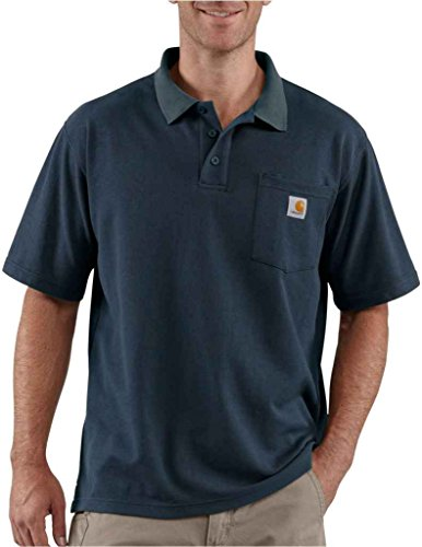 Carhartt Contractor's Work Pocket Polo, CHK570-navy, XS