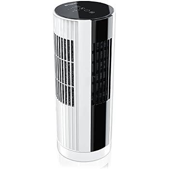 tisch ventilator oszilierend wei schwarz ohne rotor bl tter extra leise mit luftreiniger. Black Bedroom Furniture Sets. Home Design Ideas