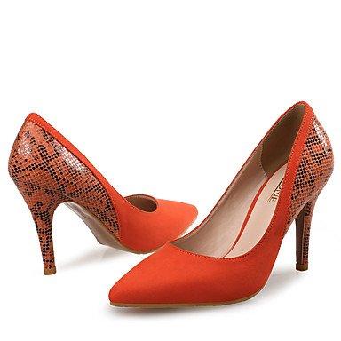 Da donna-Tacchi-Matrimonio / Formale / Serata e festa-Others / Innovativo-A stiletto-Di pelle / Cashmere-Tessuto almond / Arancione / Orange