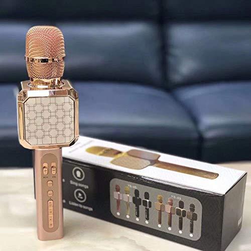 GL-Musical instrument Mikrofon, Karaoke-Mikrofone Bluetooth Wireless-Gesang Lautsprecher für PC, iPhone, Ipad, Android Party Kids