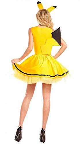 shoperama-Pikachu-para-Disfraz-de-Mujer-Sexy-Petticoat-Vestido-y-Cabello-Maduro-con-Orejas-Pokemon