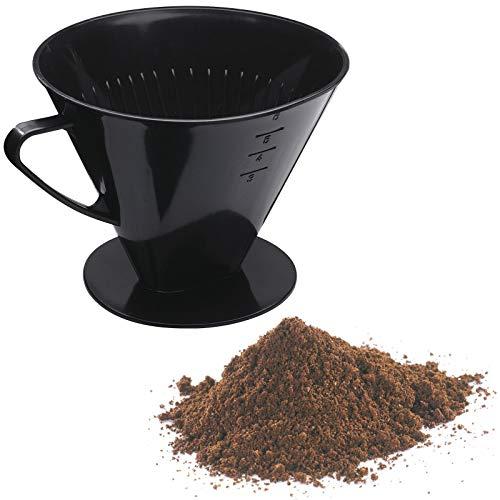 Westmark Kaffeefilter/Filterhalter, Für bis zu 6 Tassen Kaffee, Filtergröße 6, Kunststoff, Six, Schwarz, 24462261 - 1 Tasse Kaffee-filter