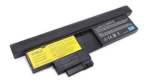 vhbw Batterie LI-ION 4400mAh 14.4V noir compatible pour IBM Lenovo Thinkpad X200 Tablet-PC, 201 Tablet remplace 43R9257 / 43R9256 / 42T4564 / 42T4564