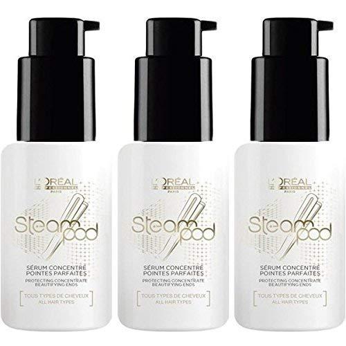 L'oréal - Lote de 3 Botellas de suero L'oreal Steampod Vapoactive Smooth Protector 50 ml