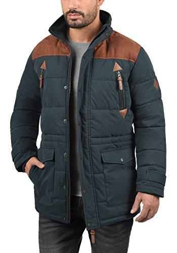 SOLID Dry Long Herren Winterjacke Jacke mit Stehkragen und abnehmbarer Kapuze aus hochwertiger Baumwollmischung Insignia Blue (1991)