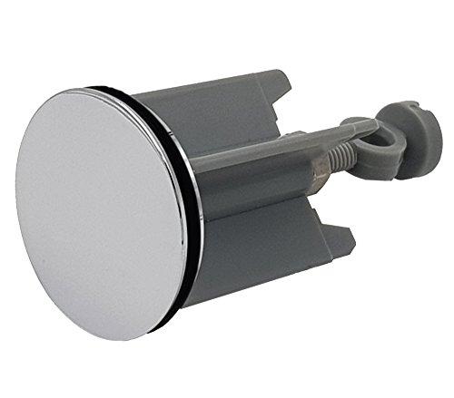 M&H-24 Universal Waschbeckenstöpsel 40mm, Hochwertiger Abflussstöpsel Abflussstopfen für alle handelsüblichen Waschbecken und Bidets in Chrom Silber