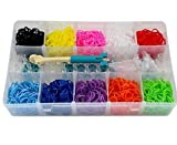 Khatri Rainbow Color DIY Loom Band Kit with 2400 Colourful Rubber Bands
