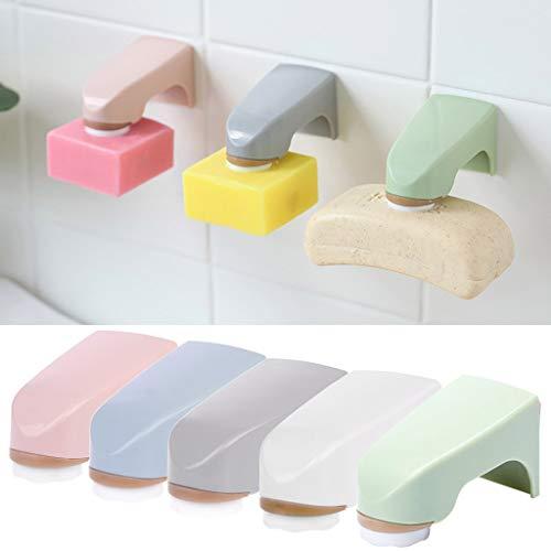 BIlinl Magnet Seifenhalter Wand Montiert Aufkleber Lagerregal Badezimmer Organisieren Zubehör