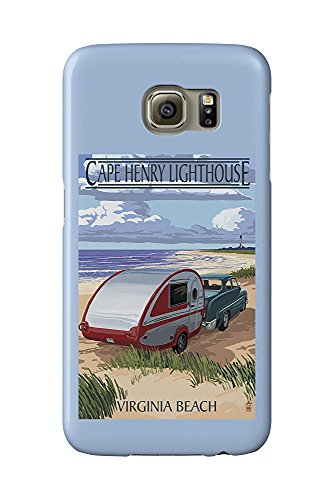 Cape Henry Lighthouse (Virginia Beach, Virginia - Cape Henry Lighthouse and Camper (Galaxy S6 Cell Phone Case, Slim Barely There))