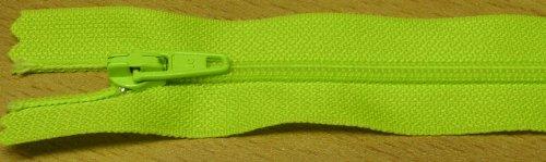 Reißverschluß Kunststoff nicht teilbar 30 cm neon grün Neon-grüner Reißverschluss