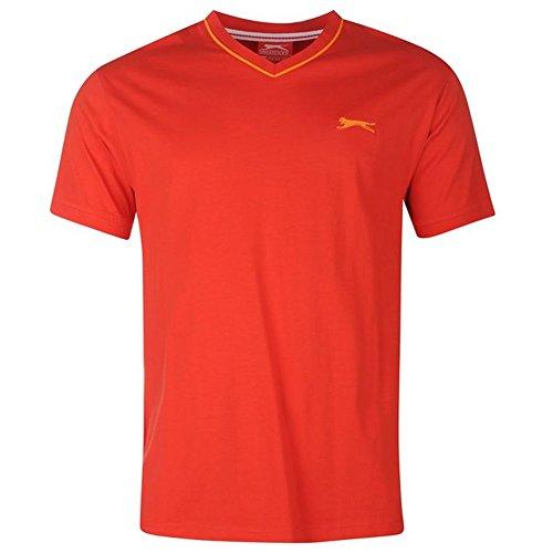 Slazenger Herren V-Neck T-Shirt Rot