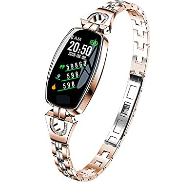Women's Smart Watch Slim,Waterproof,Sleep Monitor,Heart Rate Blood Pressure Monitoring,Health Activity Fitness Tracker,Compatible for Android and iOS by KING Watch