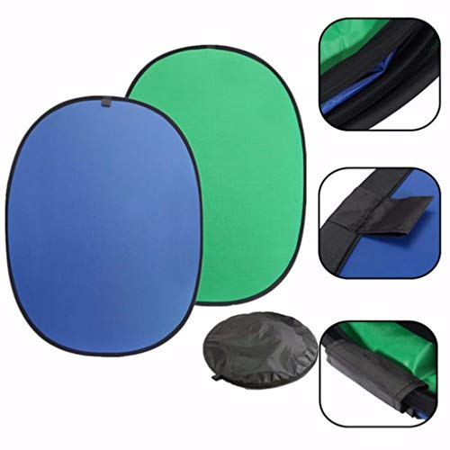 Yongse Green/Blue 2-in-1 Hintergrund Panel Popup Backdrop Reversible Collapsible Screen - Green-screen-geräte