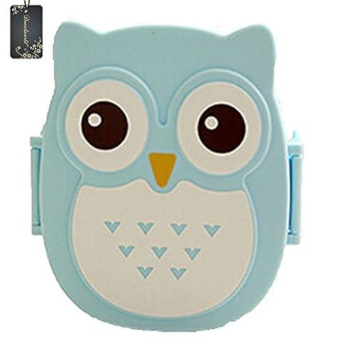 donalworld enfants Cartoon Owl Boîte Bento Lunch Box Boîte alimentaire boîte de rangement portable Multicolore Pattern3