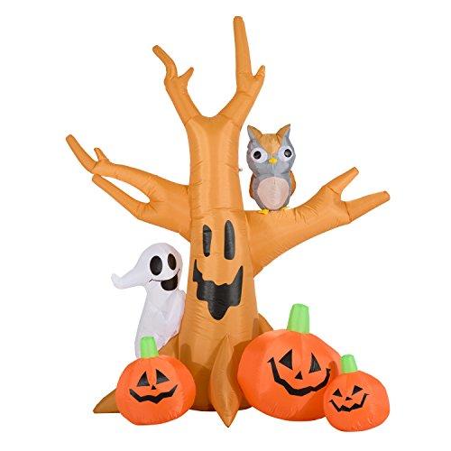 Homcom® Halloween Aufblasbares Spukgespenst Luftfigur Aufleuchtend Deko 120/ 240 cm (Aufblasbarer Spukbaum)