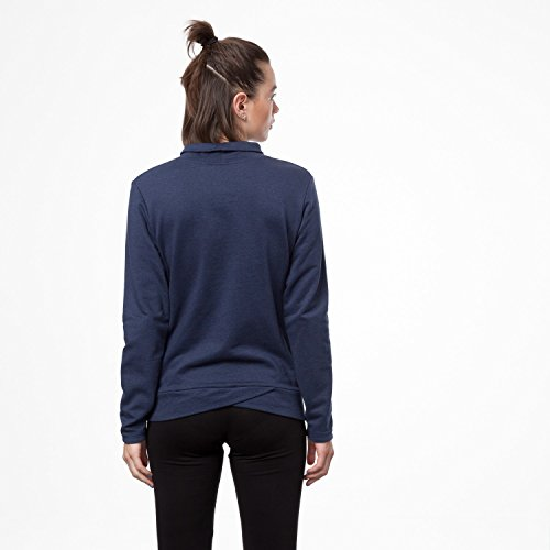 THOKKTHOKK Damen Sweatshirt Dunkelblau Bio Fair, Größe:XL - 4