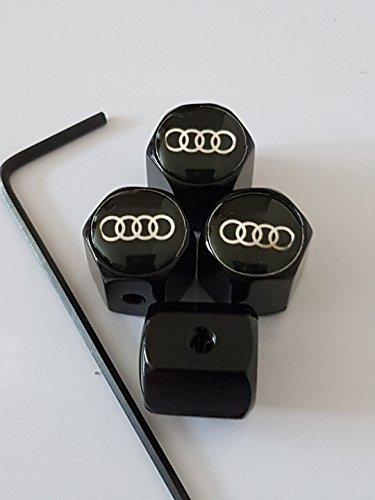 Speed Demons Noir Audi Anti vol Alliage Voiture Pneu Valve poussière enjoliveurs s'adapte à Tous Les modèles RS S Ligne TT