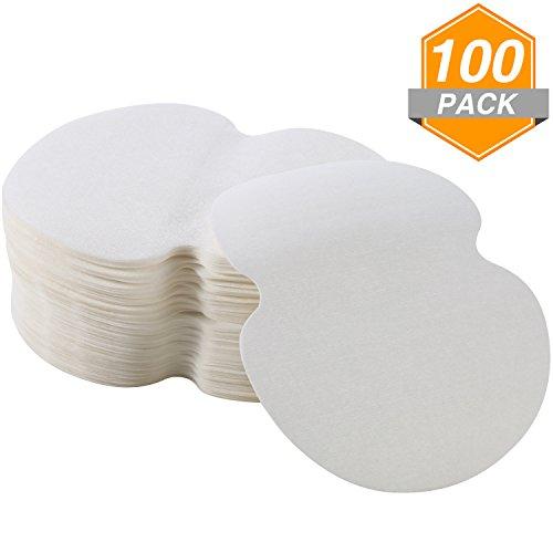 100 Pezzi Ascelle Cuscinetti Sudorazione Ascella Tamponi per le Donne Uomini Bambini Adulti, Bianco