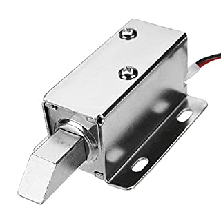 KUNSE 12V Dc Electric Lock Assembly Solenoid Long Locking Tongue Cabinet Drawer Door Lock