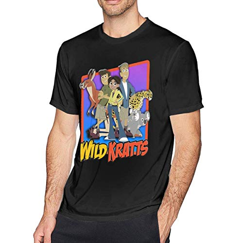 liuyang727000 Wild Kratts Men's Comfort Tee Black (Shirts Kratts Wild)