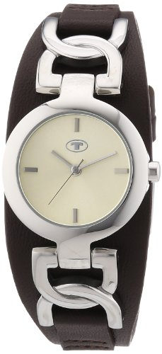 TOM TAILOR Damen-Armbanduhr XS Analog Quarz Leder 5411103