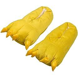 Zapatillas de Garra, Unicornio Unicorn Peluche – Zapatos de pantuflas – divertido puschen Slipper (M:EUR(36-40), amarillo)