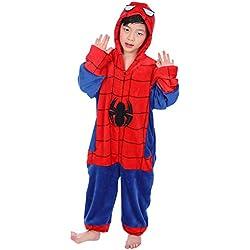 """Dolamen Niños Unisexo Onesies Kigurumi Pijamas, Niña Pyjamas, Ropa de Dormir pijama (110-120CM (435""""-47""""),"""
