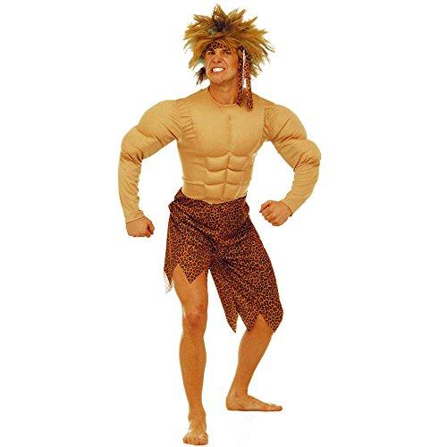 Kostüm Tarzan Zubehör (Widmann 32711 Erwachsenenkostüm Dschungel Mann,)