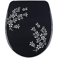 DIAQUA Nice abattant WC avec système d'abaissement automatique Slow Motion multicolore 40, 5–46 Fides noir 40,5 x 46 x 37,5 cm