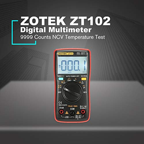 fghdfdhfdgjhh Fit ZOTEK ZT102 Mini 9999 Zählbereich Digital-Multimeter AC/DC-Spannungsprüfer mit Temperatur- und NCV-Messung