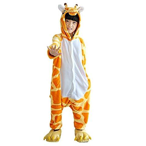Pyjama Grenouillere Girafe - Hstyle Enfants Onesies Cartoon Pyjama Filles Mignon