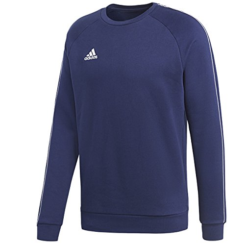 Adidas Core18 SW Top Sweat-Shirt Homme, Dark Blue/Blanc, FR : M (Taille Fabricant : M)