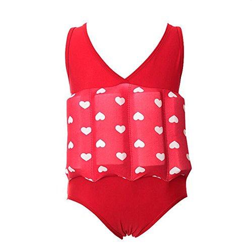 SYSI Kinder Bojen Badeanzug Schnelltrocknende Jungen und Mädchen Trainings Badeanzüge/Röckchen(1-9 Jahre) (7, L(90-100CM,10-15KG))