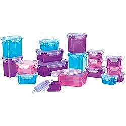 GOURMETmaxx 02003 - Envases de Almacenamiento de Alimentos sin BPA, Apto para lavavajillas, congelador y microondas, Tapa de Clip, Multicolor, 36 Piezas