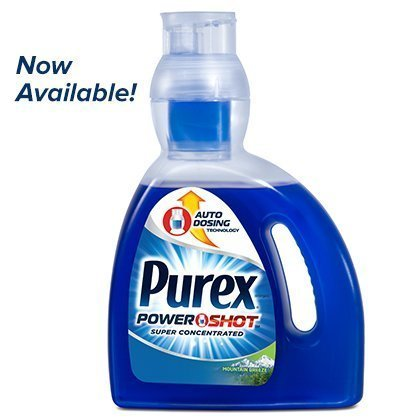 Purex Power Shot Liquid Laundry Detergent, Mountain Breeze, 30 Ounce by Purex